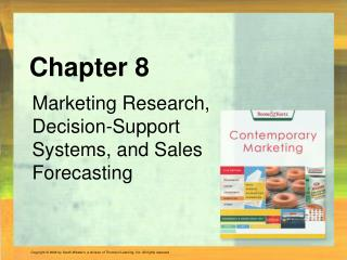 Marketing Research, Decision-Support Systems, and Sales Forecasting