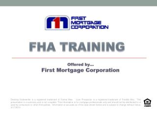 FHA TRAINING