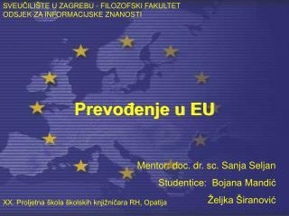 Prevođenje u EU
