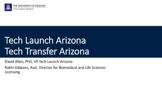 Tech Launch  Arizona Tech Transfer Arizona