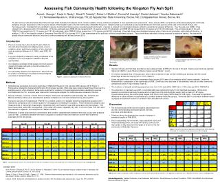Assessing Fish Community Health following the Kingston Fly Ash Spill