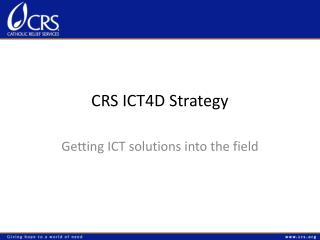 CRS ICT4D Strategy
