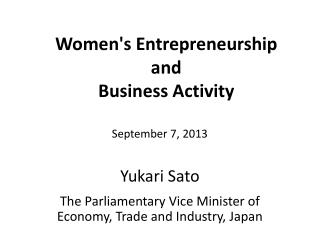 Women's Entrepreneurship  and  Business  Activity