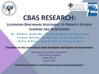CBAS RESEARCH:  Leveraging Benchmark Assessment to Promote Student Learning and Achievement