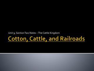 Cotton, Cattle, and Railroads
