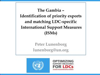 The Gambia –  Identification of priority exports  and matching LDC-specific