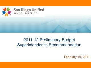 2011-12  Preliminary Budget  Superintendent's  Recommendation