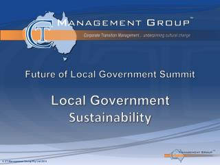 Future of Local Government Summit Local Government  Sustainability