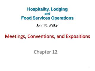 Meetings, Conventions, and Expositions