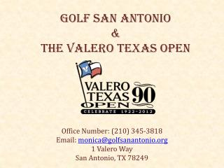 Golf San Antonio  & The Valero Texas Open