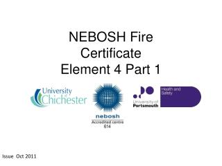 NEBOSH  Fire Certificate Element 4 Part 1