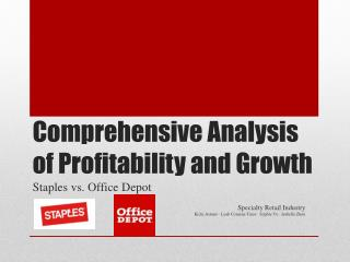 Comprehensive Analysis of Profitability and Growth