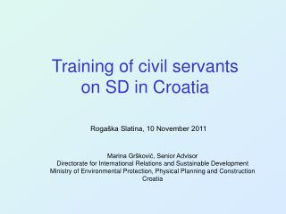 Training of civil servants  on SD  in Croatia