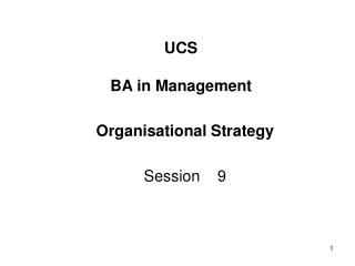 UCS BA in Management