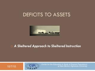 Deficits to Assets