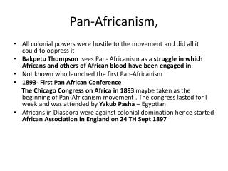Pan- Africanism ,