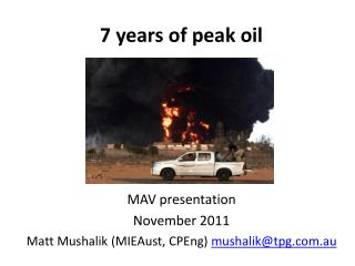 7 years of peak oil