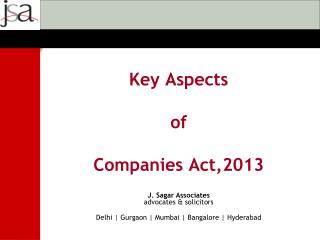 Key Aspects of Companies Act,2013