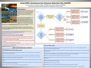 Using DWR's Greenhouse Gas Emissions Reduction Plan (GGERP)
