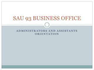 SAU 93 BUSINESS OFFICE