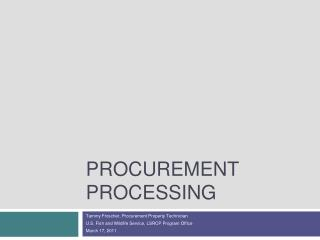 Procurement Processing
