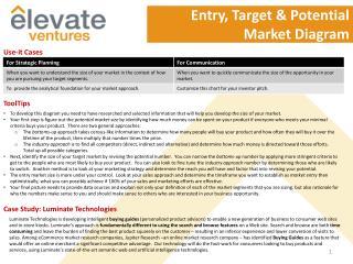 Entry, Target & Potential Market Diagram