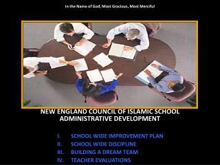 SCHOOL WIDE IMPROVEMENT PLAN SCHOOL WIDE DISCIPLINE BUILDING A DREAM TEAM TEACHER EVALUATIONS