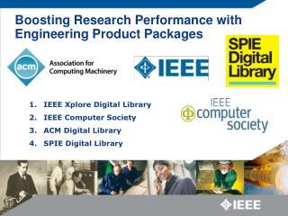 Boosting Research Performance with Engineering Product Packages
