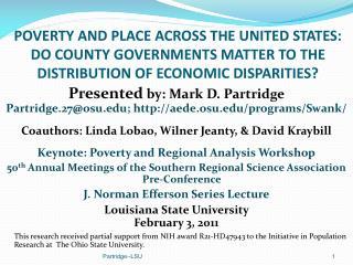 Presented  by: Mark D. Partridge Partridge.27@osu ;  aede.osu/programs/Swank/