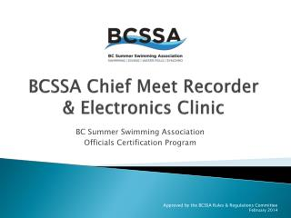 BCSSA Chief Meet Recorder & Electronics Clinic
