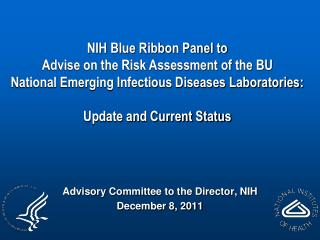 Advisory Committee to the Director, NIH December 8, 2011