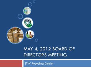 May 4, 2012 Board of Directors Meeting