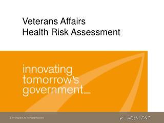 Veterans Affairs   Health Risk Assessment