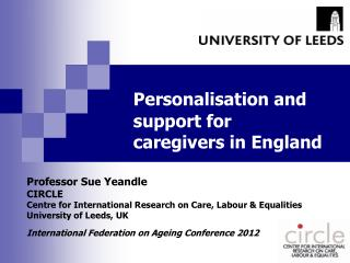 Personalisation and support for caregivers in England