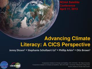NOAA Satellite  Conference  April 11, 2013