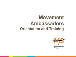 Movement Ambassadors Orientation and Training