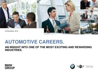 Automotive careers.