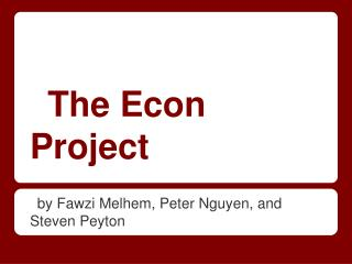 The Econ Project