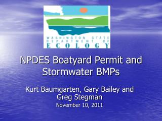 NPDES Boatyard Permit and Stormwater BMPs