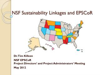 NSF  Sustainability Linkages and EPSCoR