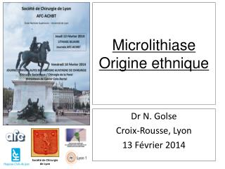 Microlithiase Origine ethnique