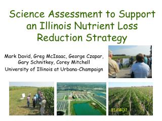 Science Assessment to Support an Illinois Nutrient Loss Reduction Strategy
