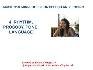 4. RHYTHM, PROSODY, TONE,  LANGUAGE