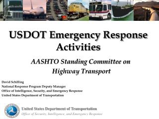 USDOT Emergency Response Activities