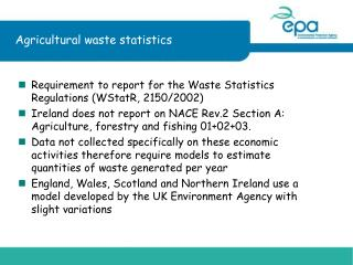 Agricultural waste statistics