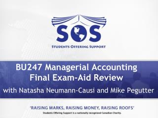 BU247 Managerial Accounting Final Exam-Aid Review