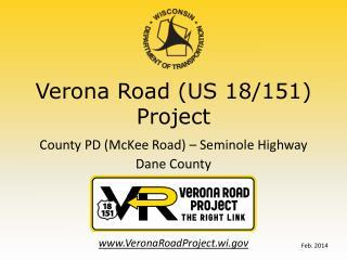 Verona Road (US 18/151) Project