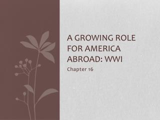 A growing role for America abroad: WWI