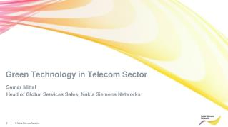 Green Technology in Telecom Sector