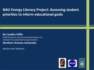 NAU Energy Literacy Project: Assessing student priorities to inform educational goals